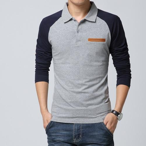 t shirt with collar and full sleeves