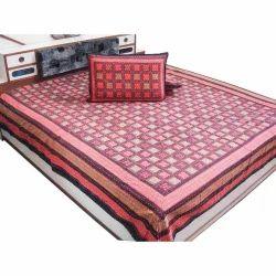 Rajasthani Katha Work Double Bed Sheet 325
