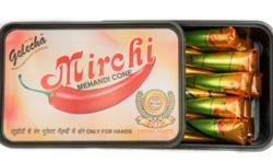 Golecha Mirchi Henna Cone, Pack Size: 25 gm, for Personal