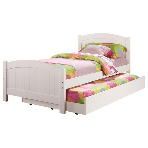 Wood White Kids Pull Out Bed Size 4 X 6 Feet