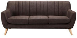 San Pio Three Seater Sofa in Chestnut Brown