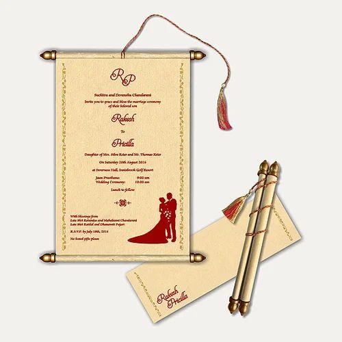Scroll Wedding Invitations.Scroll Wedding Cards