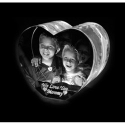 3d Heart Crystals Photo Frame