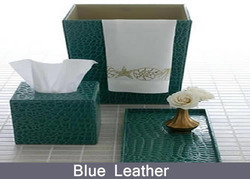 Bath Accessories Map Gold, Leather Bathroom Accessories