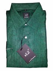 Taye Fashions Green Linen Casual Shirt