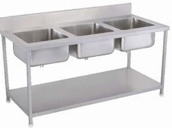 Three Kitchen Sinks Unit