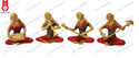 """Musical Lady Set Statues, Size/dimension: 5.5"""""""
