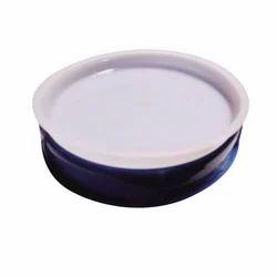 White, Blue Jar Plastic Cap