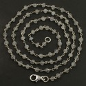 As Pictures Shown Labradorite Sterling Silver Rosary Chain Necklace