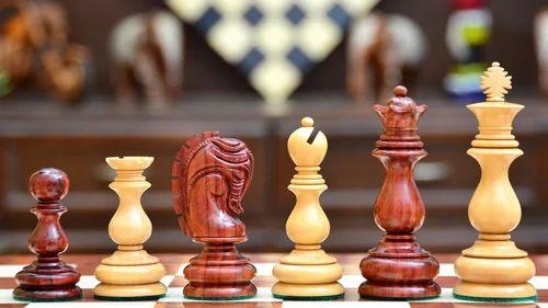 "Tournament Chess Storage Box in Sheesham Wood for up to 3.8/"" Chess Set M0081"