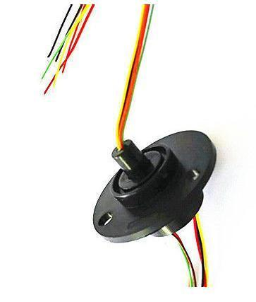 12 5mm 300rpm 6 wires circuits x2a capsule slip ring ac 240v