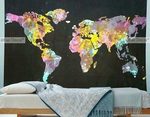 World map tie dye wall hanging tapestry at rs 350 piece world map tie dye wall hanging tapestry gumiabroncs Image collections