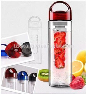 Arhant Red And Blue Fruit Infuser Water Bottle, Capacity: 700ml