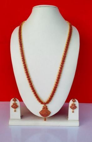 0ff920ff07 Ruby Ad Stone Necklace Set at Rs 5000 /set | Chennai | ID: 11109263562