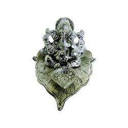 White Metal Ganesh Statues