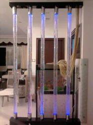 Transparent Glossy Glass Pillars