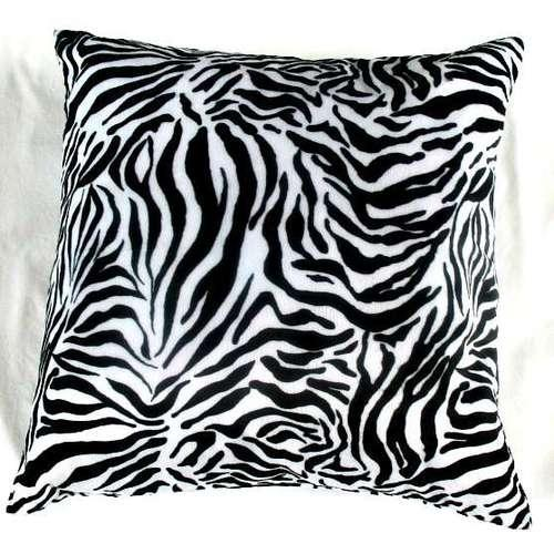Zebra print cushion covers