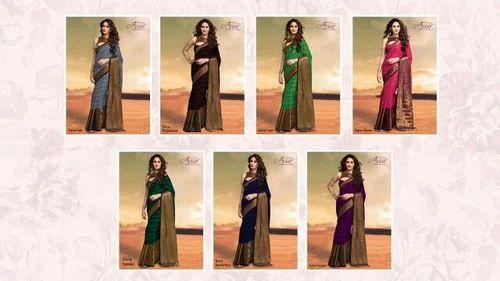 36e89772e1 Aura Cotton Silk Sarees With Blouse Piece, Rs 1299 /piece | ID ...