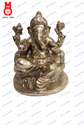 Lord Ganesh W/ Pillow Half Rd. Base