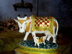 Gold And White Marble Cow