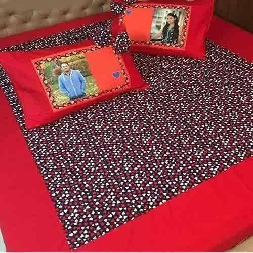 Personalized Printed Velvet Bed Sheet