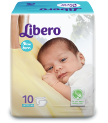 New Born Baby Diapers - Open Style Libero (1 Pack Of 10 Pcs)