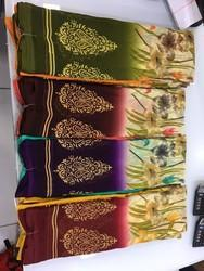 Printed Synthetic Sarees, Length: 6 m