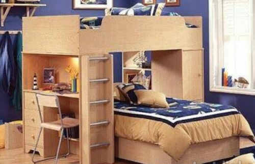 Product Image. Read More · Double Bed With Study Table