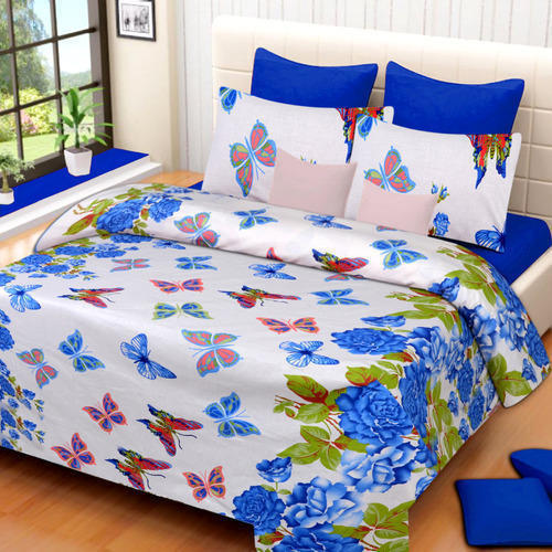 Butterfly Print Cotton Bed Sheets