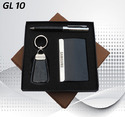 Metal and Leatherette Three in One Corporate Gift Set