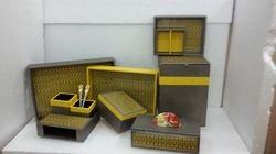 Yellow N Grey Leather Set
