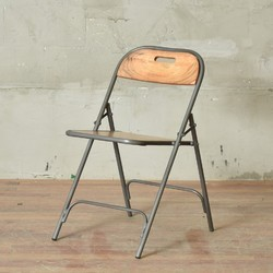 Black Iron Folding Chair for Hotel