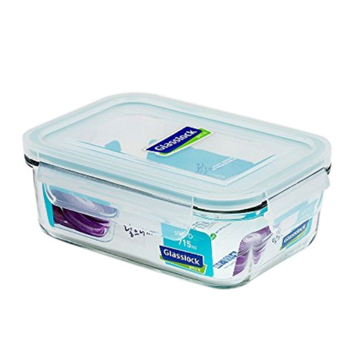 Rectangular Glass Food Storage Container at Rs 300 piece Vejalpur