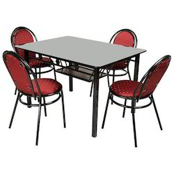 Steel Four Chair Dining Table
