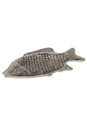 White Metal Fish Shape Serving Tray