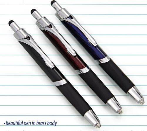 Anmol Dark Executive Click Pen With Stylus, L96