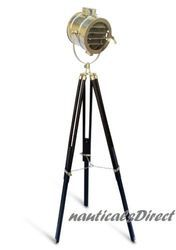 Vintage Chrome Finish Spot Search Light - Floor Light Lamp Tri