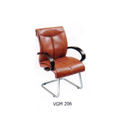 Brown Leather Reception Chairs