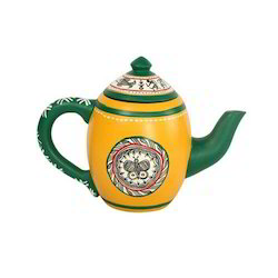 Earthenmetal Terracotta Decorative Kettle Showpiece