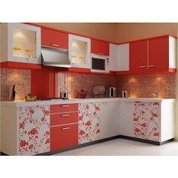 modular kitchen - l shaped modular kitchen service provider from