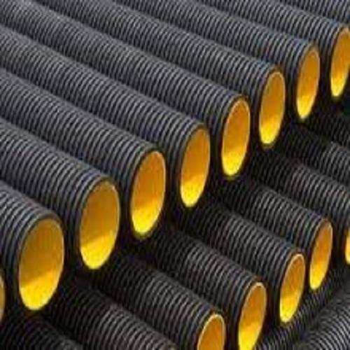 Black Double Wall Corrugated Hdpe Pipes Thickness 20mm