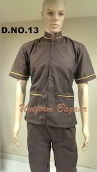 Brown with Yellow Piping Top & Nada Pants