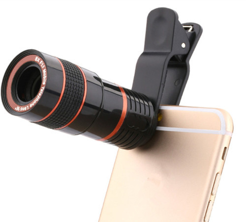 8x Zoom Mobile Telescope Lens with Blur Background and Universal Clip Holder