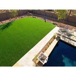 PE Straight Landscaping Artificial Grass, Packaging Type: Roll