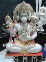 White Hanuman Sculpture