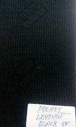 Pocketing Lining 58 Inch Black Twill Emboss