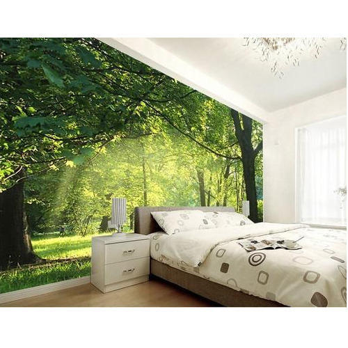 Bedroom Custom Wallpapers, Rs 65 /square feet, Gogia Print ...