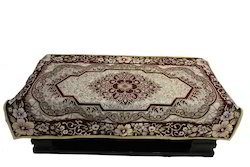 Maroon Aasma Gold Beauty Table Cover Rd04m, Size: 40x60 inches