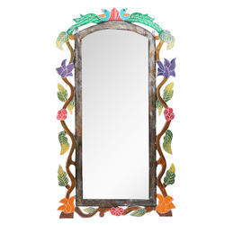 Wooden Hand Crafted Wall Mirror