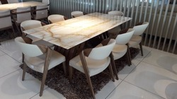 8 Seater Marble Dining Table